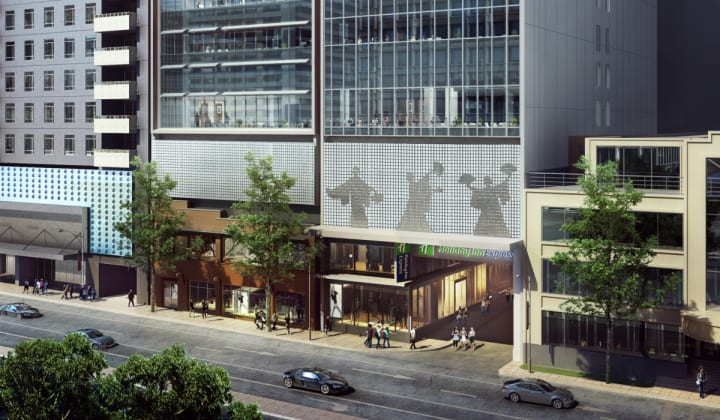 Holiday Inn Express - 35 City Road, Southbank. Image: Pro-Invest Group