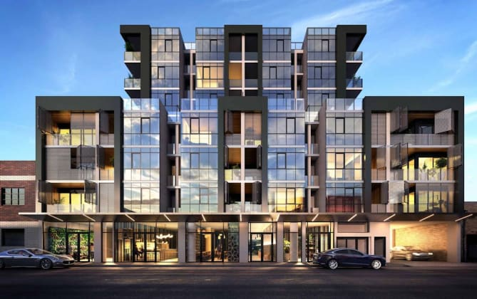 Lygon Place - 240 Lygon street, Brunswick East. Image: Peddle Thorp Architects