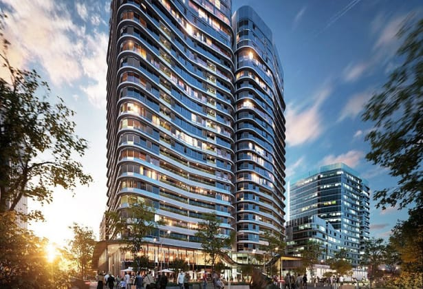 Marina Square II - Burroway Road, Wentworth Point . Image: Billbergia