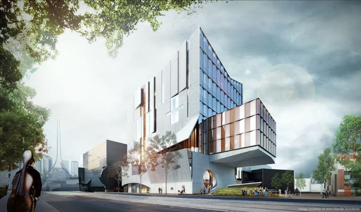Melbourne Conservatorium of Music - 33 Sturt Street, Southbank. Image: John Wardle