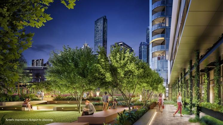 Melbourne Quarter - 614 Flinders Street, Docklands. Image: Lend Lease