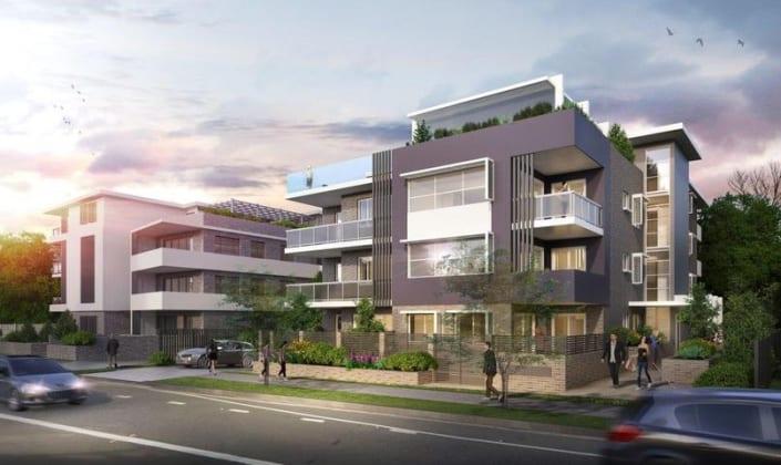 Mia Vida - 161-163 Pennant Street, Parramatta. Image: Zhinar Architects
