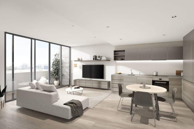MILQ - Living area.  Image courtesy Plus Architecture