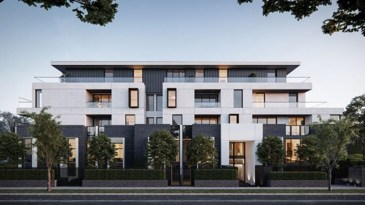 Olea - 50 Kambrook Road, Caulfield North. Image: Marshall White