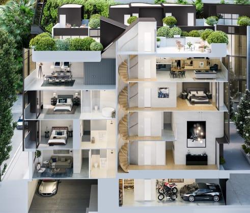 Paragon of Pyrmont - 108 Miller Street, Pyrmont. Image: Thirdi Group