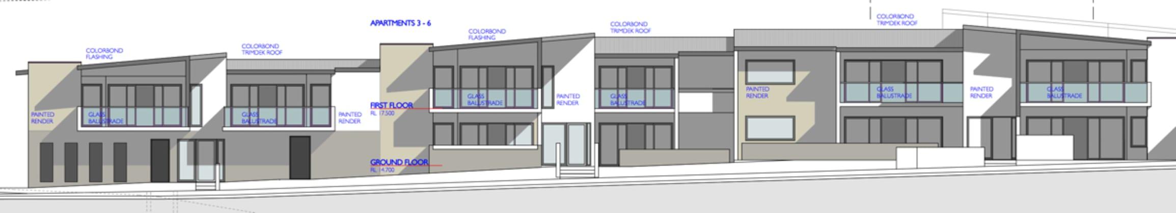 Pembroke & Bruce Apartments - 2B Bruce Street, Carina. Planning Image: Michael Stewart Architect