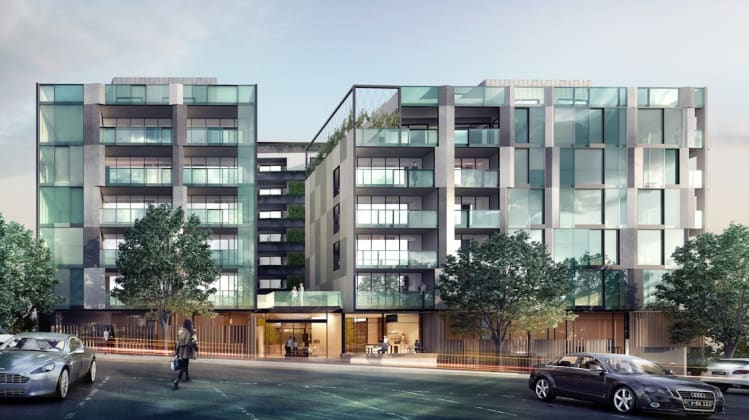 Rosslyn Apartments - 109 Rosslyn Street, West Melbourne. Image courtesy The Buchan Group
