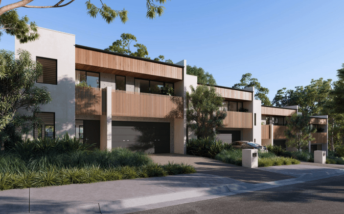 The Beaumont - 57 Windsor Road, Baulkham Hills. Planning Image: Mark Shapiro Architects