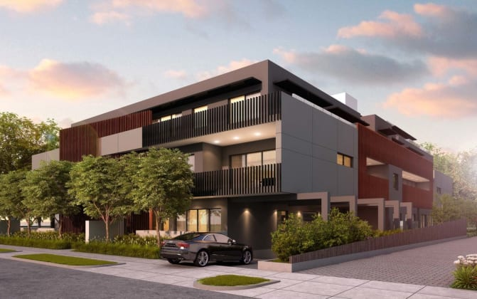 The Edge Apartments - 21 Bourke Street, Ringwood. Image: Carter