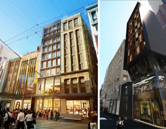 309-325 Bourke Street. Planning Images: Buchan