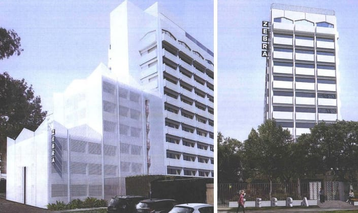 Zebra House - 303 Royal Parade, Parkville. Planning image: Breathe Architecture