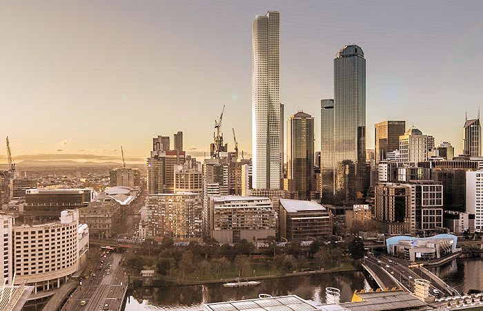 Softly does it: 555 Collins Street in detail