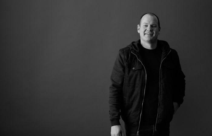 Monochrome portrait of Cam McLellan