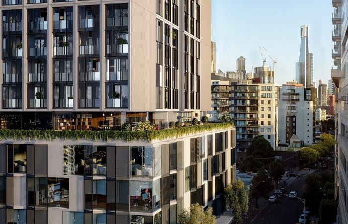 Steller and Ewert Leaf combine for a reworked South Melbourne apartment tower