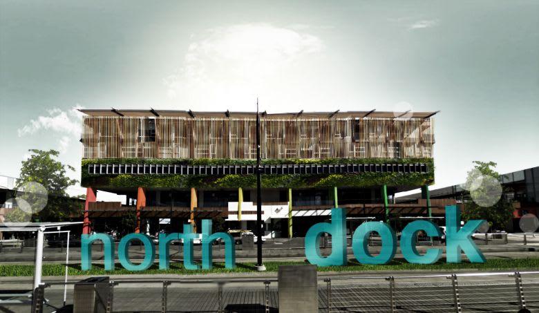 'North Dock' precinct signage.© Laurence Dragomir