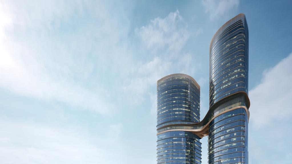 Rendering of Melbourne's newest twin towers connected by a sky bridge. Image by urbanmelbourne.