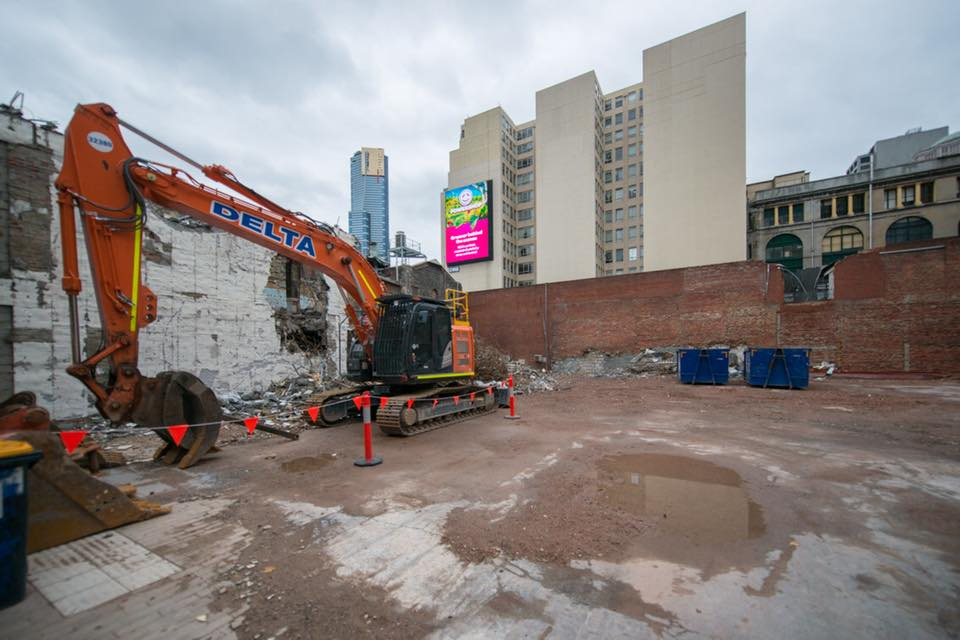 Demolition on Port Phillip Arcade signals start of major works on the new Town Hall station
