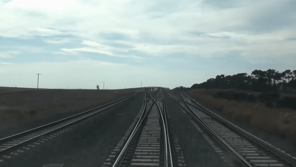The full Regional Rail Link in driver's eye view - timelapse