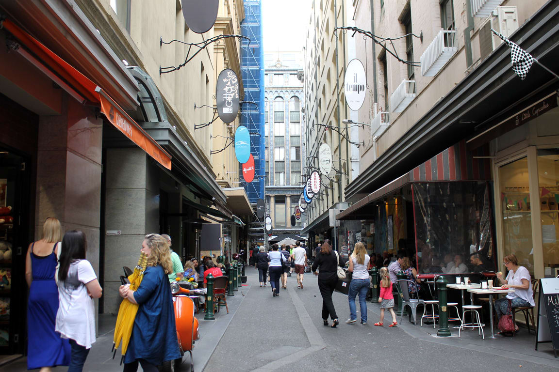 Exploring Melbourne's retail and laneway spine