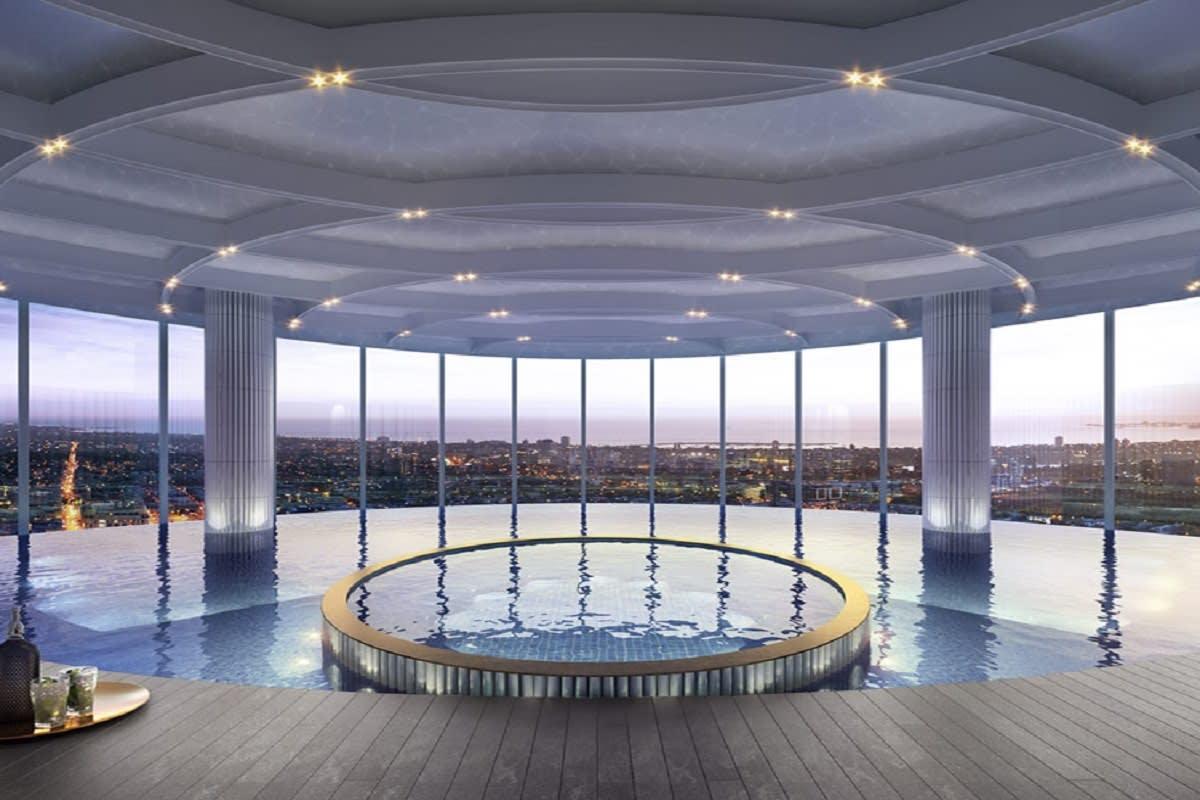LK Tower's infinity pool.