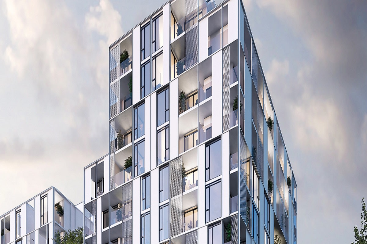 Rendering of the Embassy apartments, Richmond.