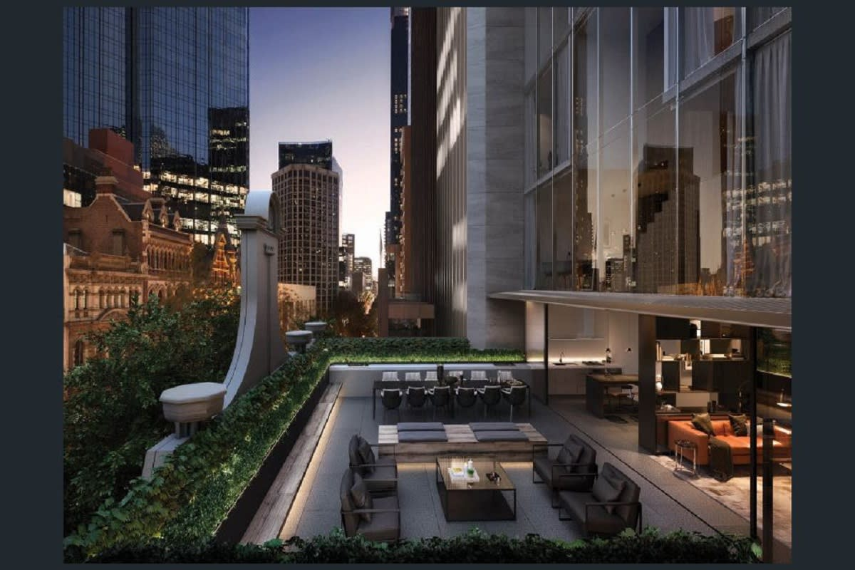 Rendering of Collins Terrace, level 3. Image Credit: Golden Age.