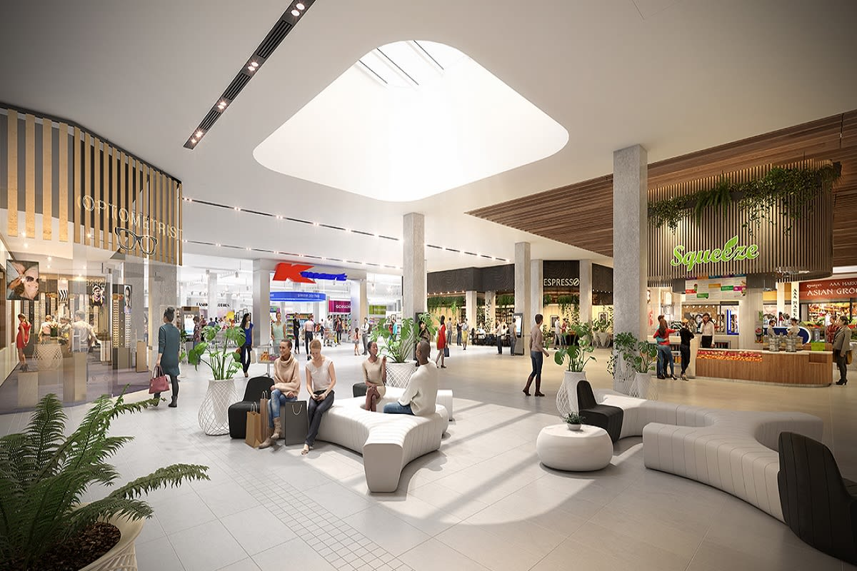 Rendering of the M-city shopping complex with Kmart as a major anchor. Image by m-city.com