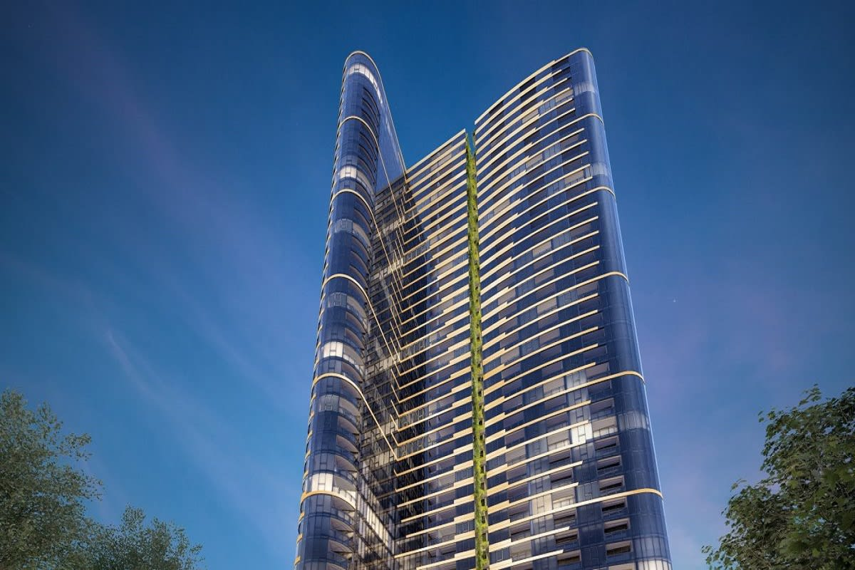 Rendering of the East Tower now under construction.
