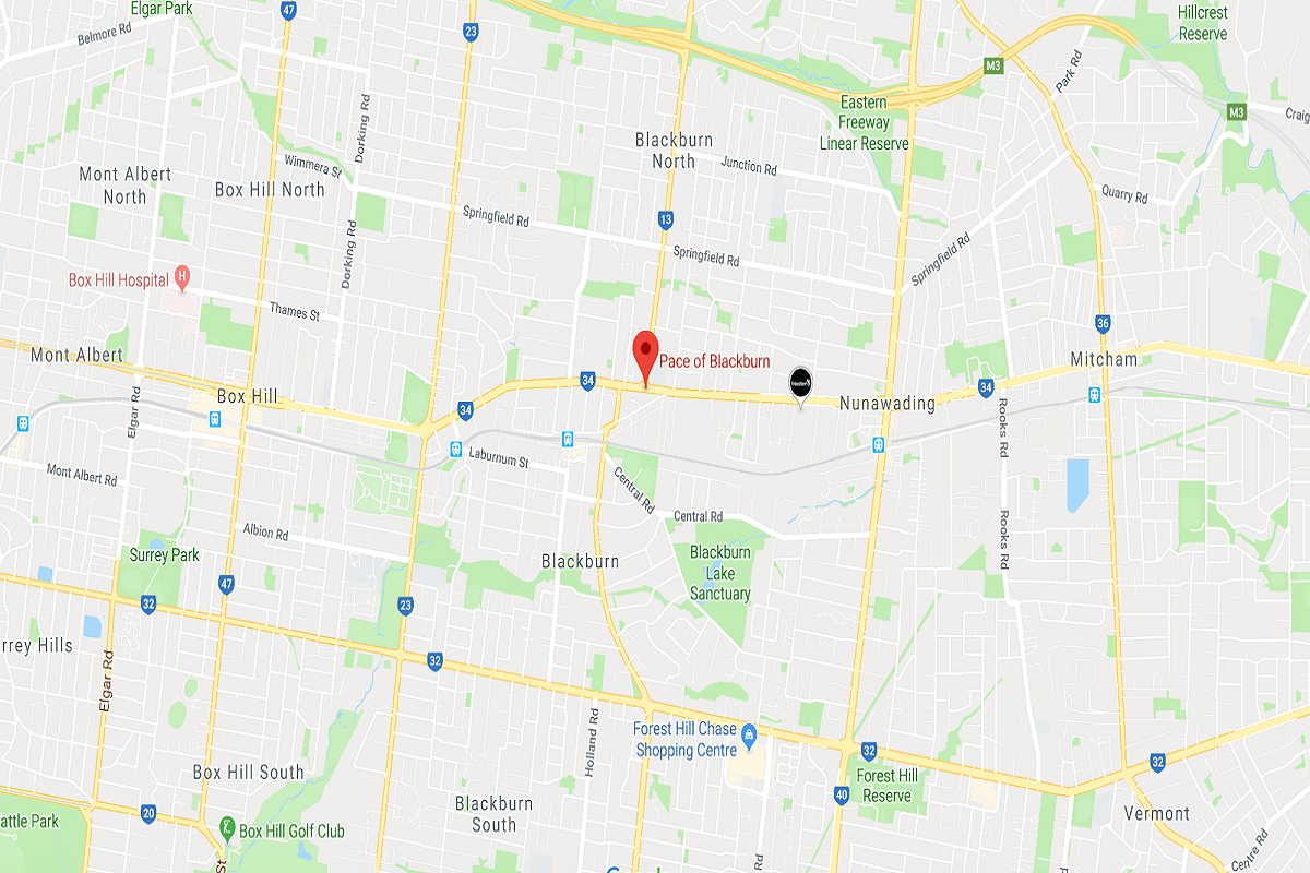 Pace of Blackburn Location via Google Maps