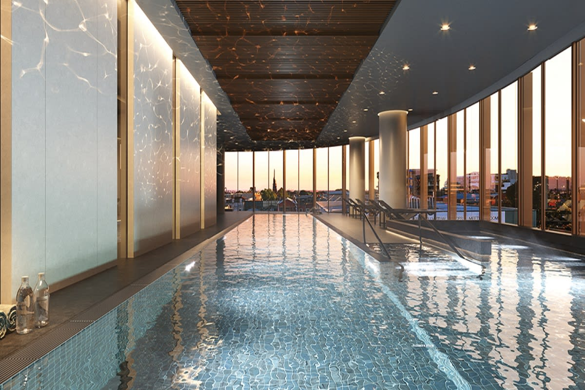 Sky pool at Rise apartments. Image by Caydon