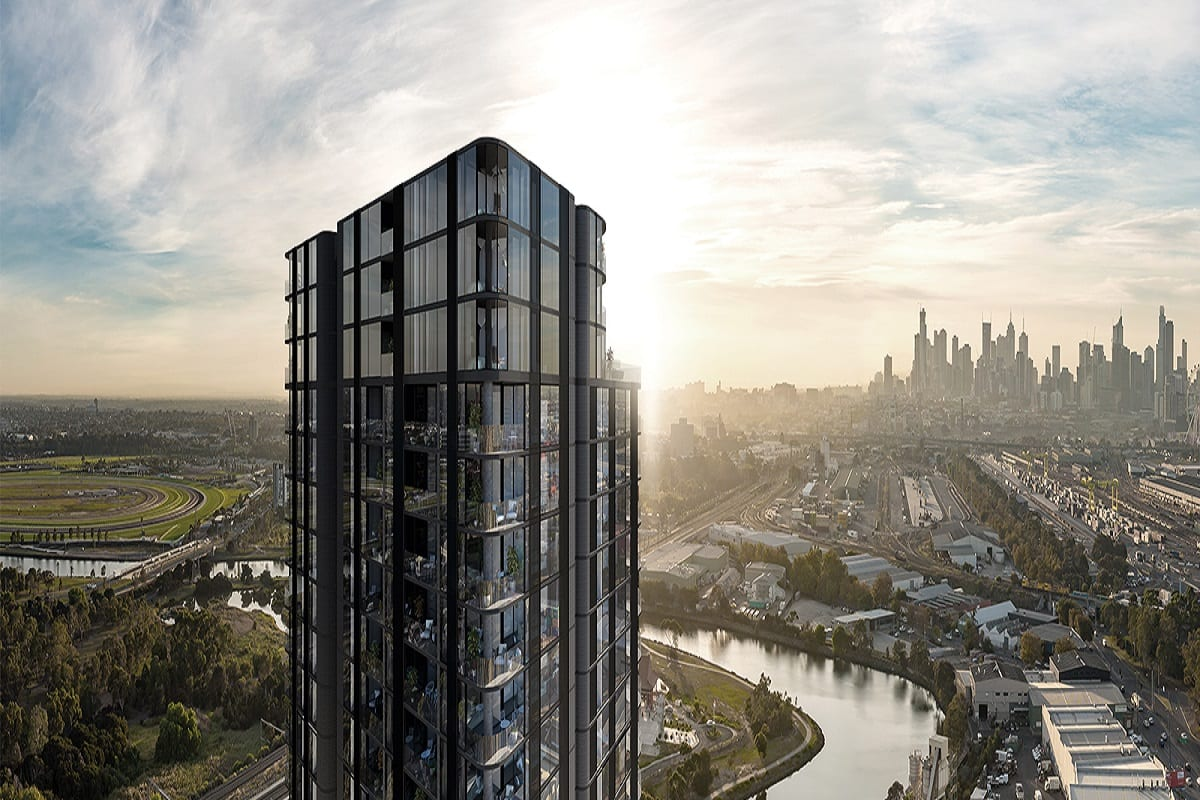 Rendering of River One tower. Image by 360 property group.