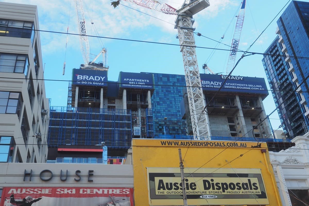Up to date image of 380 Melbourne in construction phase. Image Credit: Skyscrapercity.com