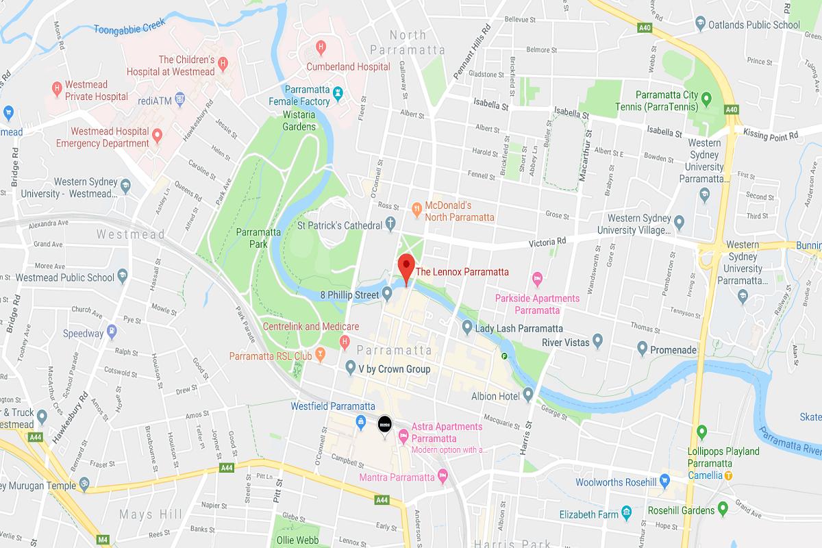 Image of The Lennox' location via Google Maps.