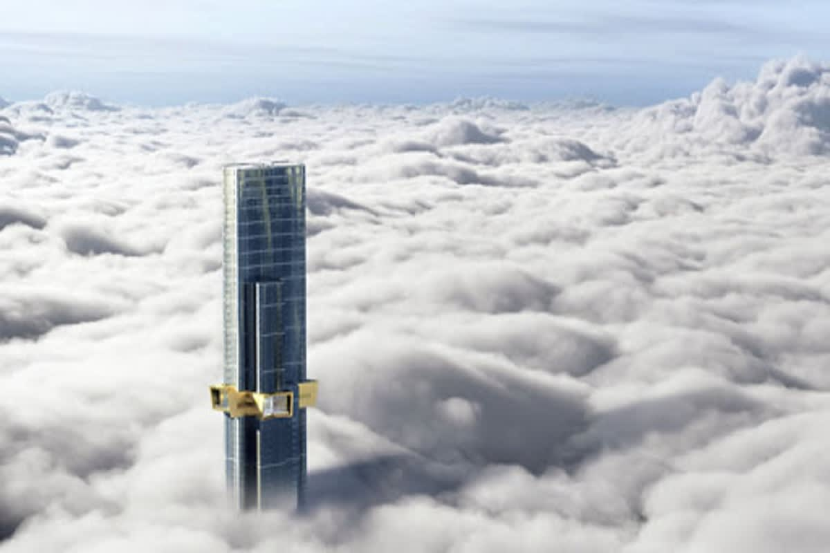 Rendering of Australia 108 standing tall above the clouds. Image Credit: Onlymelbourne.com