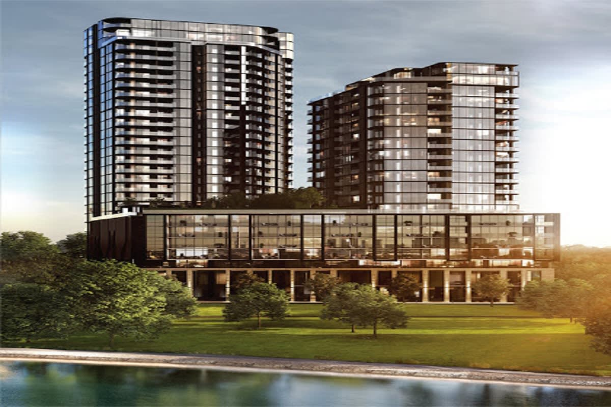 Rendering of the two main River One towers.