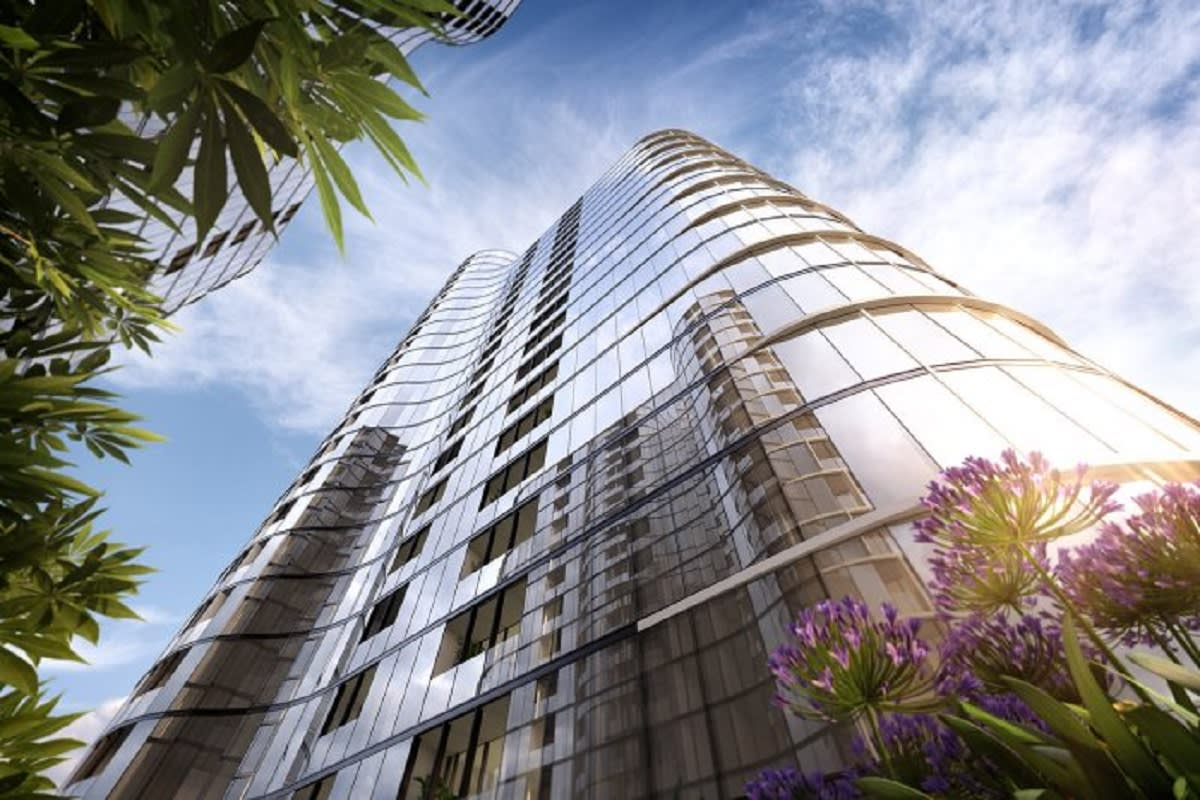 At 88 metres tall, the Melbourne Village towers make an impact on the West Melbourne skyline.