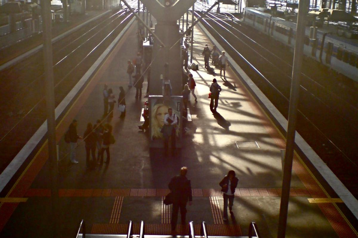 The rise and fall of train stations