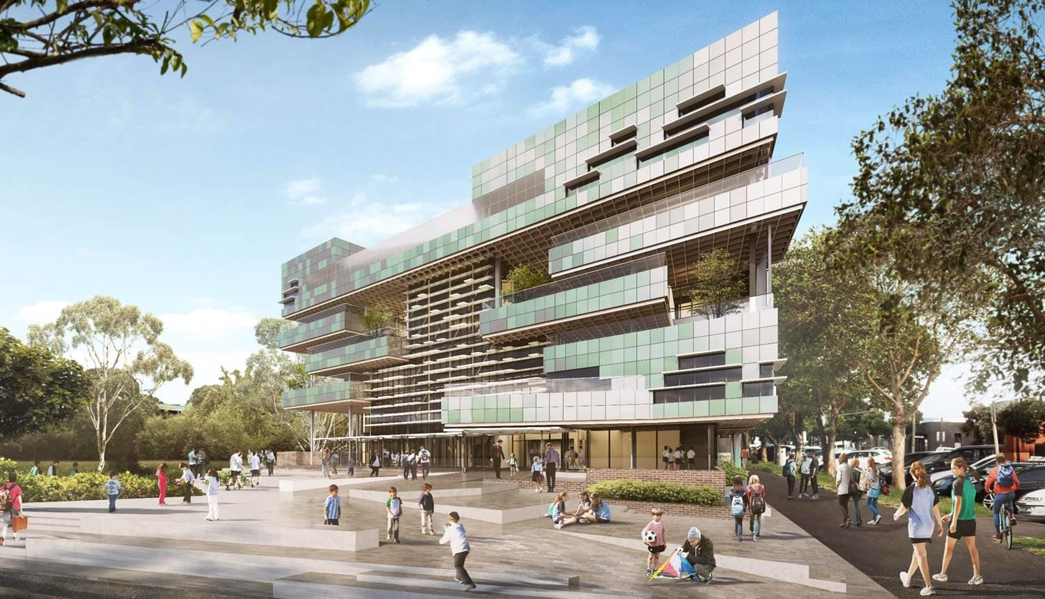 Victoria's first vertical school to rise in South Melbourne