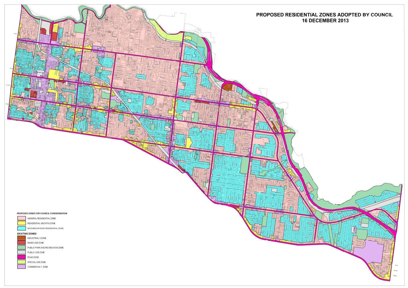 Reformed planning zones: City of Stonnington