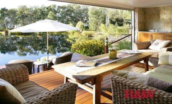 Weycoola, overlooking Lake Weyba, Noosa remains for sale
