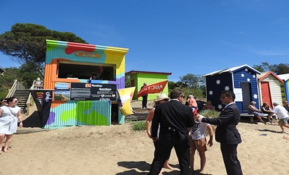 Mornington bathing box listed for sale after 0,000 top weekend bid