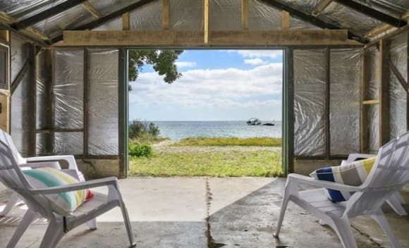 Beachfront Indented Head boat shed sold for 6,000