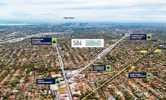 Camberwell site with permit for luxury apartments sells for
