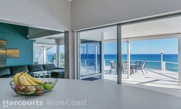 Ocean and coastal view waterfront Aldinga Beach house sold for <img src=
