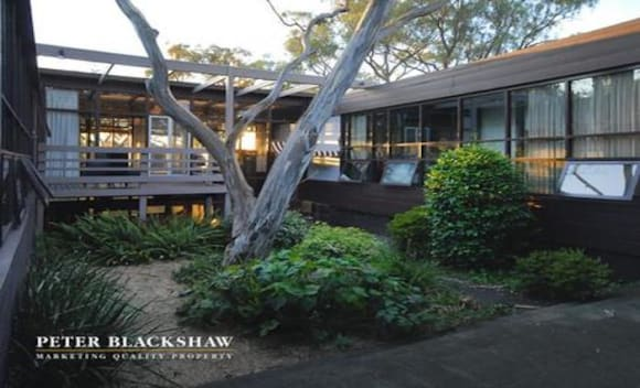 Mid-century modern style Campbell, Canberra trophy home listed