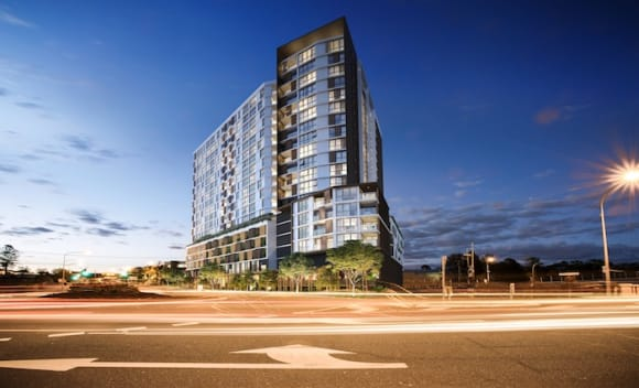 First apartment tower at Park Central in Brisbane's Woolloongabba