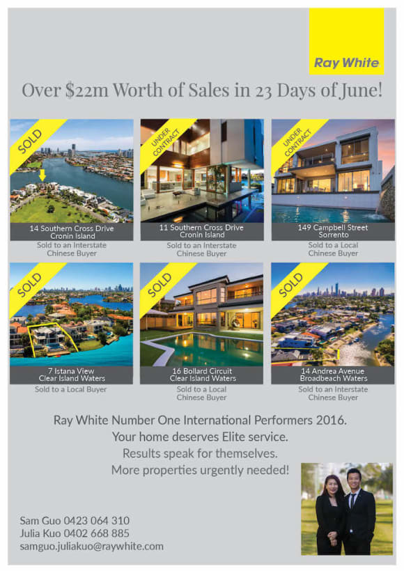 Top Gold Coast agents sell  million in past four weeks