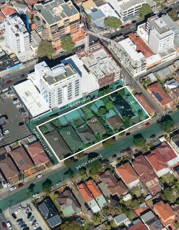 Seven homeowners to put their sites on the market in Sydney's Burwood for  million