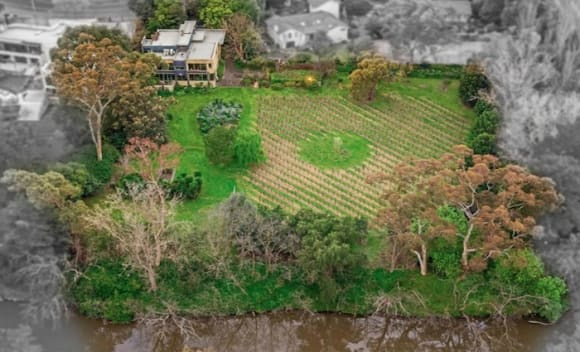 Vineyard on the Yarra River listed with  million hopes