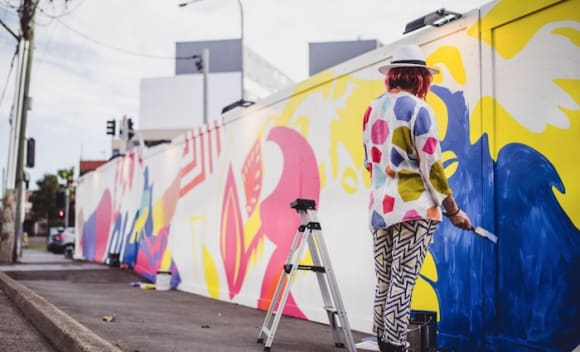 Street art brings a new dimension to Charlie Parker development in Harris Park
